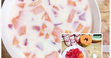 木瓜李子酸奶捞