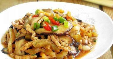榨菜香菇炒肉丝